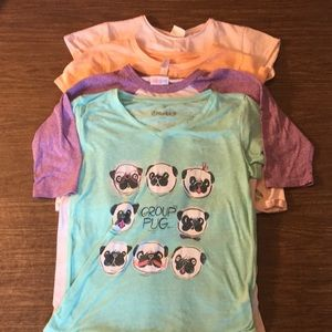 Lot of 4 girls short sleeve tees